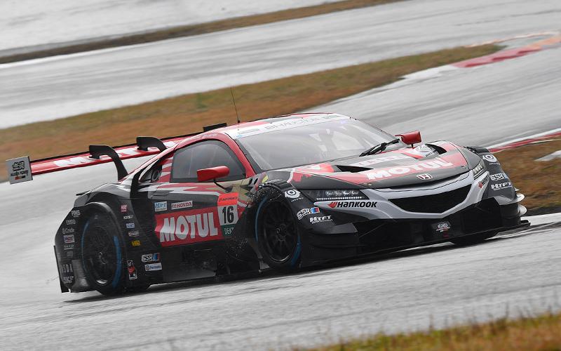 【特別交流戦:公式予選 2】引退を電撃発表した中嶋大祐(No.16 MOTUL MUGEN NSX-GT)が予選最速タイムを記録の画像