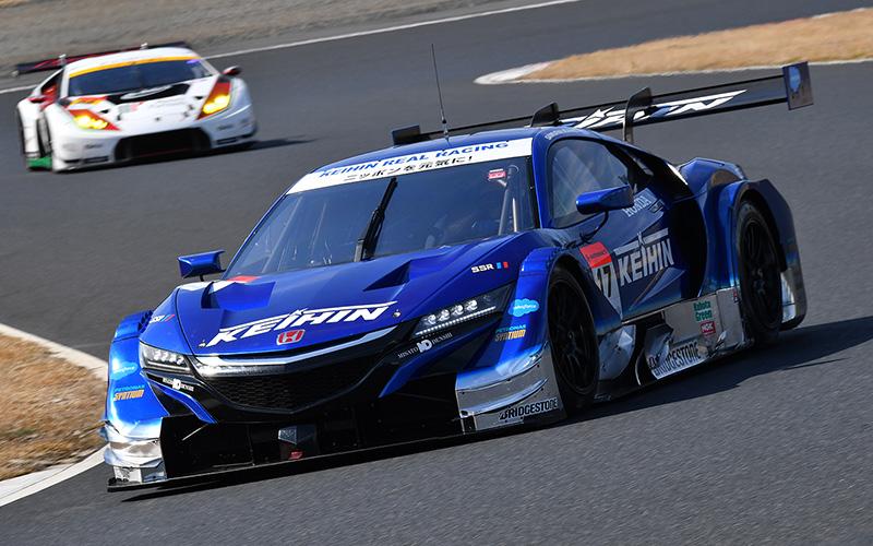 【公式テスト岡山・2日目】最速はKEIHIN NSX-GT! だがGT-Rが午後ベストを記録。GT300はシンティアム・アップル・ロータスがトップの画像