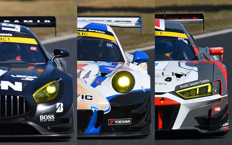 【2019開幕特集】SUPER GTマシン総覧 Part 4 GT300/Mercedes AMG GT3, PORSCHE 911 GT3 R, Audi R8 LMSの画像