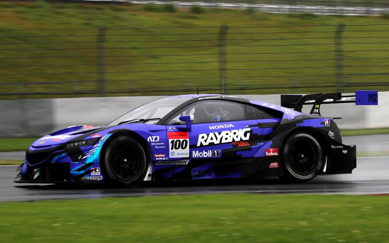 【公式テスト富士・2日目セッション3】雨の走行でもRAYBRIG NSX-GTの牧野が最速!GT300はGAINER TANAX GT-Rがトップタイムの画像