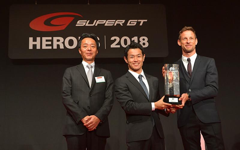 """今季チャンピオンや関係者が勢揃いし、シリーズ表彰式""""SUPER GT HEROES 2018""""が華やかに行われるの画像"""