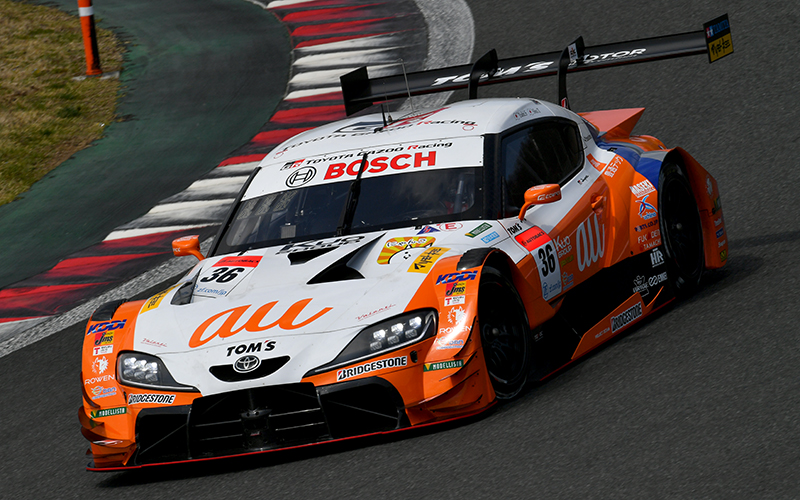 【公式テスト富士・1日目】au TOM'S GR Supraの坪井がトップタイム!GT300はリアライズ日産自動車大学校 GT-Rが最速の画像